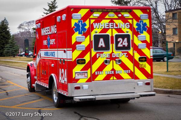 chevron striping on ambulance