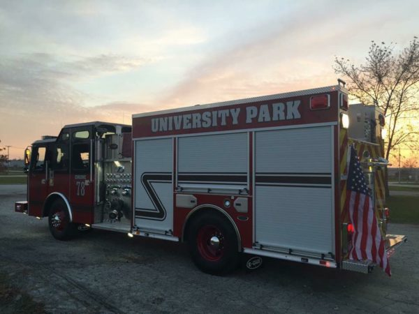 University Park fire engine