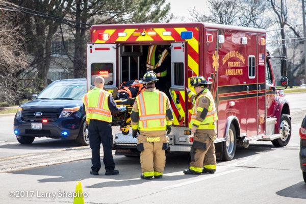 Stryker ambulance cot wth power load at crash scene