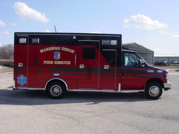 Marengo Union Fire Rescue ambulance