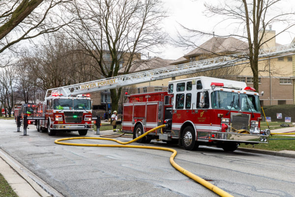 River Forest fire trucks