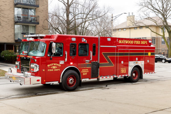 Maywood Fire Department fire engine