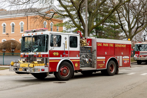 Oak Park FD HME fire engine