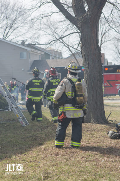fire chief at house fire scene
