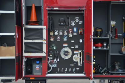 Ferrara fire truck pump panel
