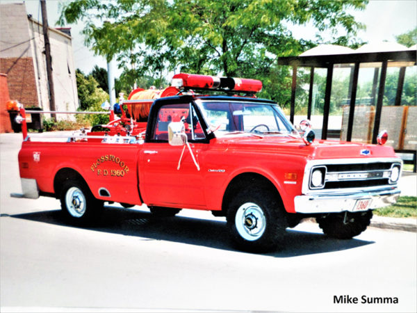 vintage Flossmoor Fire Department truck