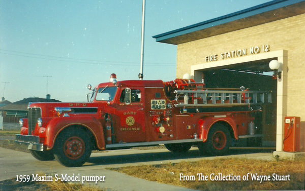1959 Maxim S-Model fire engine