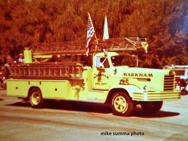 Markham Fire Department's Truck 55, a 1955 FWD/Geesink
