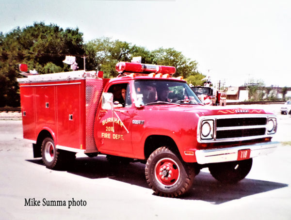 Burnham Fire Dept.'s 1975 Dodge/Marion 250/100 mini pumper