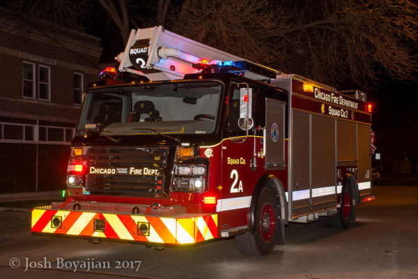 Chicago FD Squad 2A Rosenbauer ACP-55