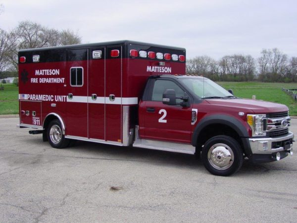 Matteson Fire Department Ambulance 2