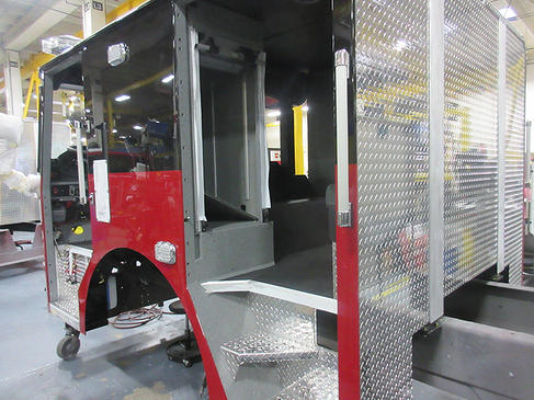 Fire truck being built for the Schiller Park Fire Department