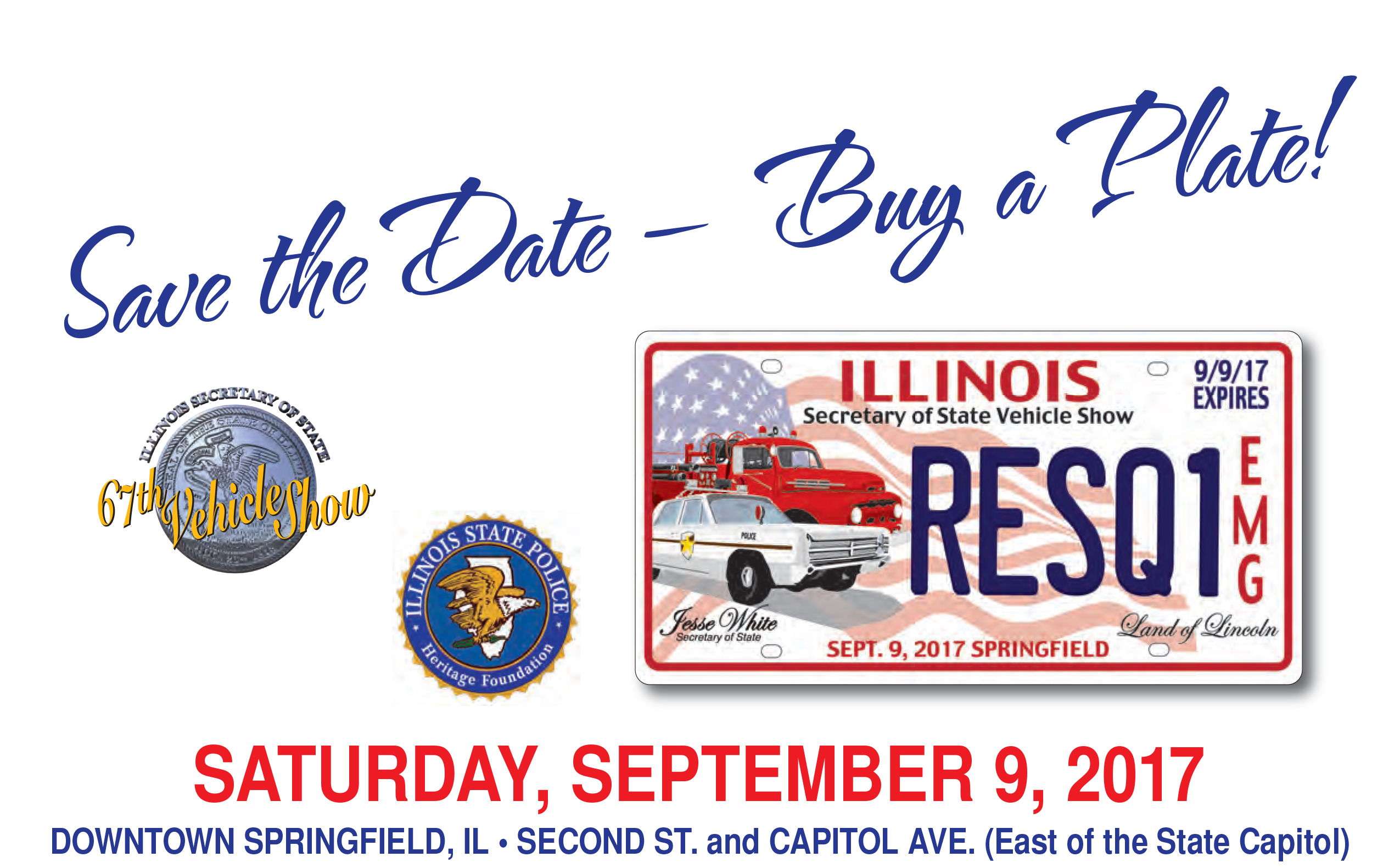 IL commemorative emergency license plate