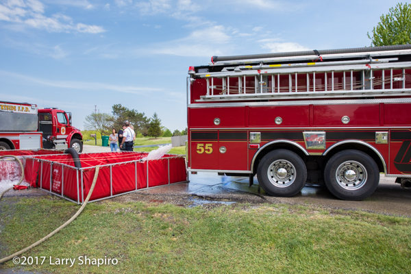 Long Grove FPD Tanker 55 dumping into a portable tank