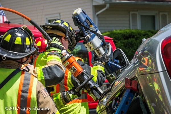 Holmatro and Hurst rescue tools at crash