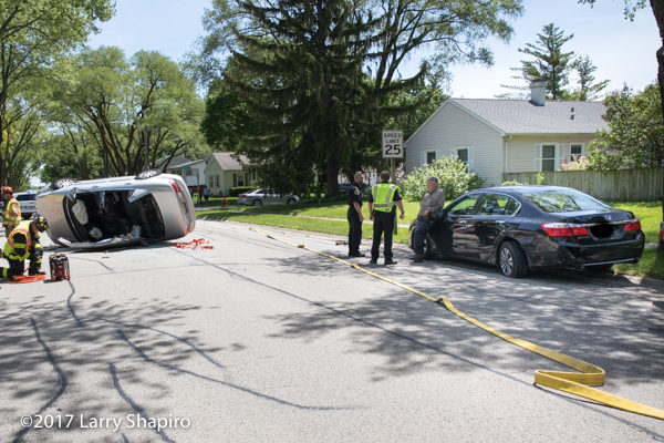 crash scene in Buffalo Grove