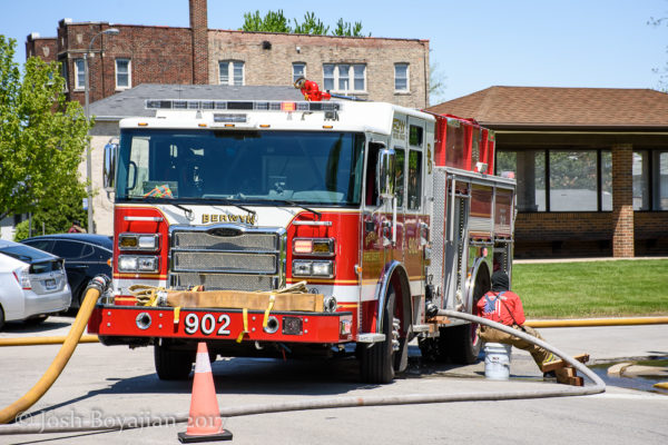 Berwyn FD Engine 902 on a hydrant