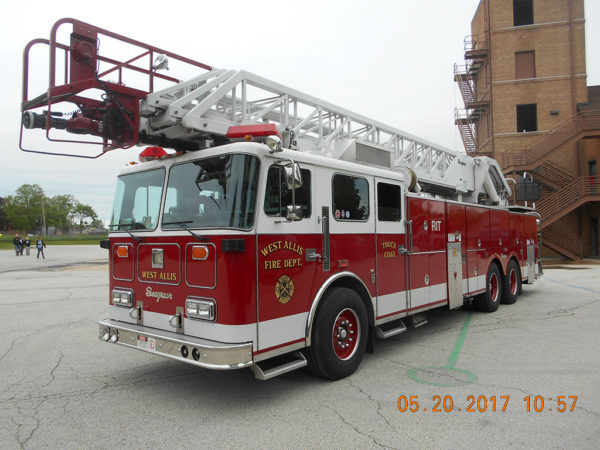 West Allis Fire Department (WI) 1991 Seagrave aerial ladder.