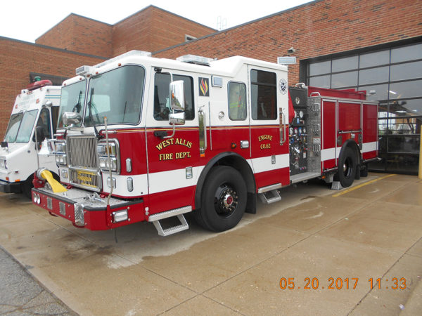 West Allis Fire Department (WI) 2016 Seagrave Marauder II engine