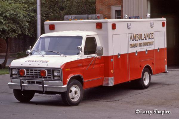 vintage Evanston FD ambulance
