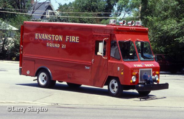 vintage Evanston FD Squad 21