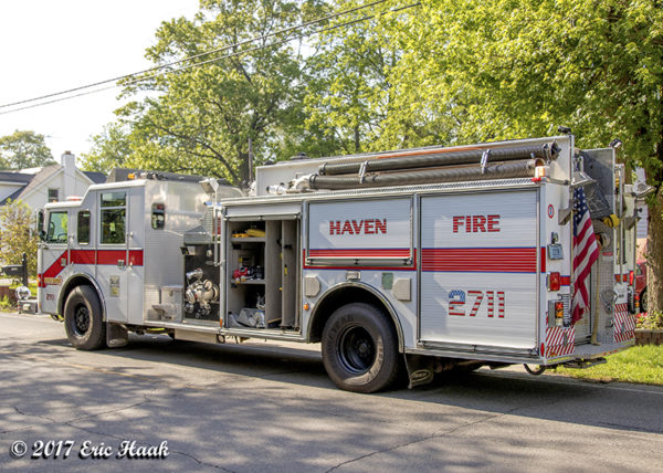 New Haven FD fire engine