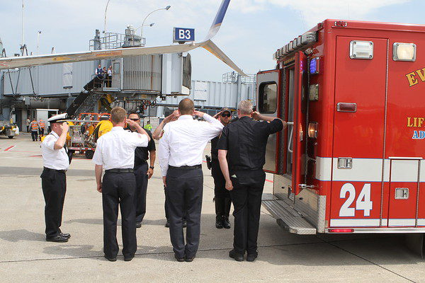 firefighters honor fallen brother
