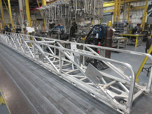 fire truck ladder being built