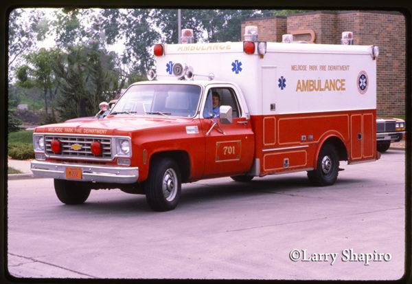 Melrose Park FD vintage ambulance