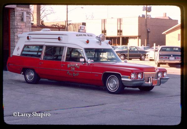 Melrose Park FD vintage Cadillac ambulance