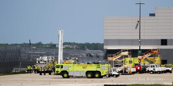O'Hare Airport fire trucks