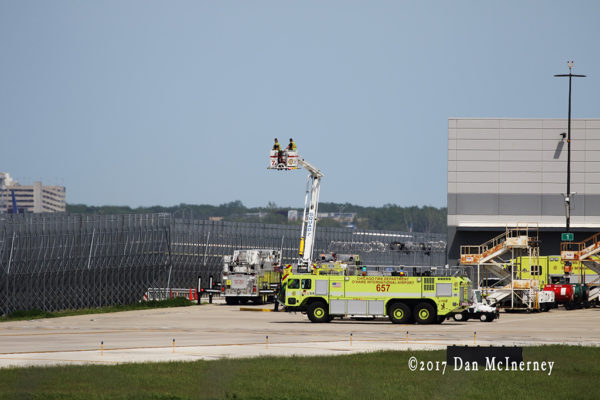 O'Hare Airport fire trucks