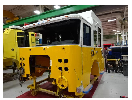 fire truck being built at Pierce so#30266