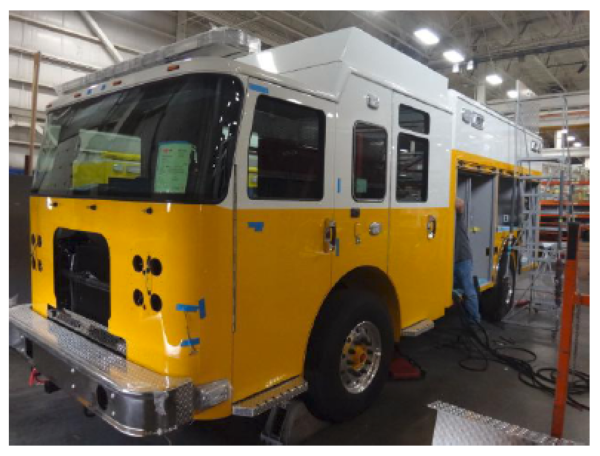 fire truck being built for the Clarendon Hills IL FD