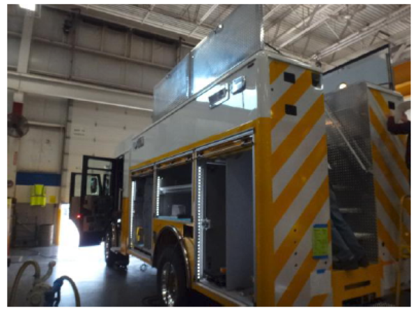 fire truck being built by Pierce