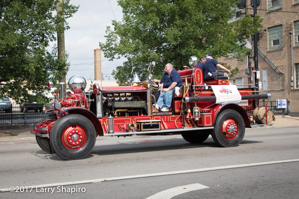 1928 Ahrens Fox fire engine in Chicago