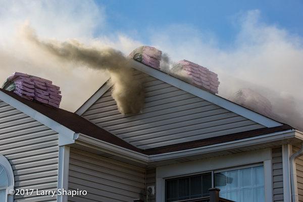 heavy smoke from attic vent