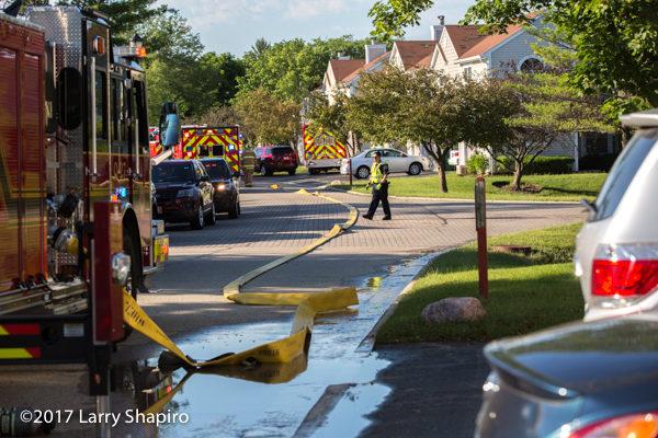 large diameter hose in the street