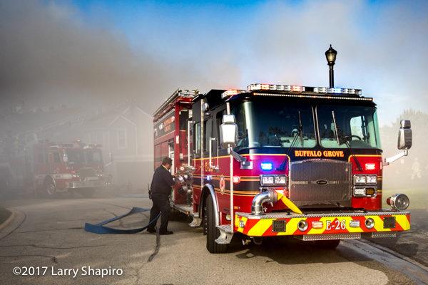 Buffalo Grove FD E-ONE Typhoon fire engine at work