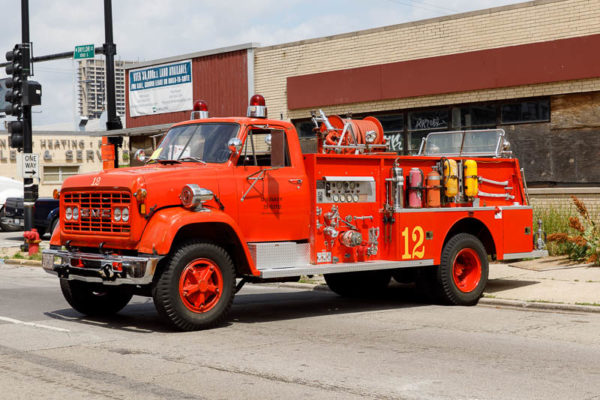 restored NAS Glenview fire engine