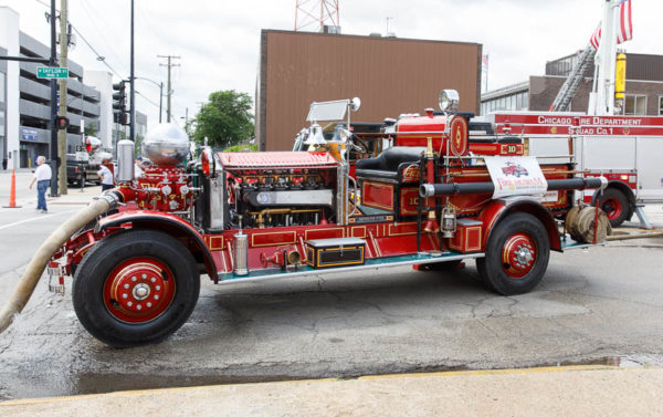 restored 1928 Ahrens Fox fire engine