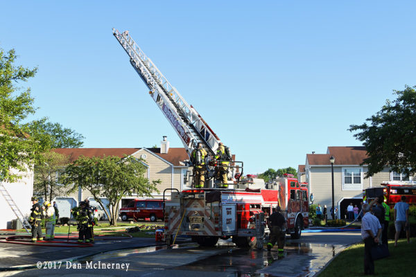 Buffalo Grove FD fire scene