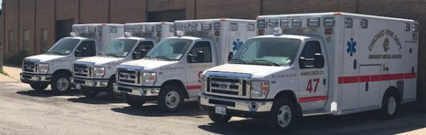 New ambulances for the Chicago Fire Department