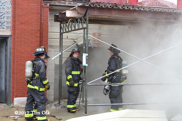 firefighters st smokey building fire