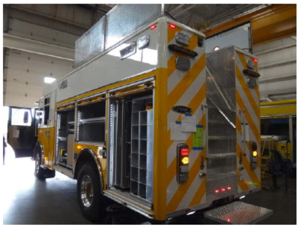 Fire truck being built for the Clarendon Hills FD (IL)