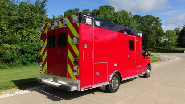 old ambulance body mounted on new chassis