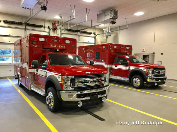 Lake Villa FD ambulances