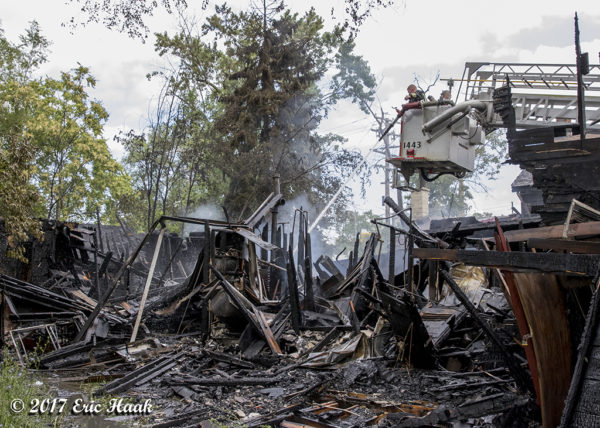 aftermath of house destroyed by fire