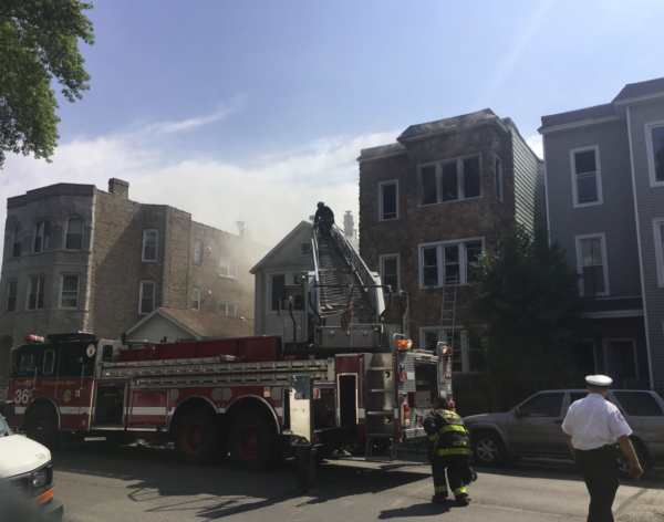 3-11 Alarm fire in Chicago 7-5-17