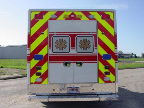 chevron striping on back of ambulance